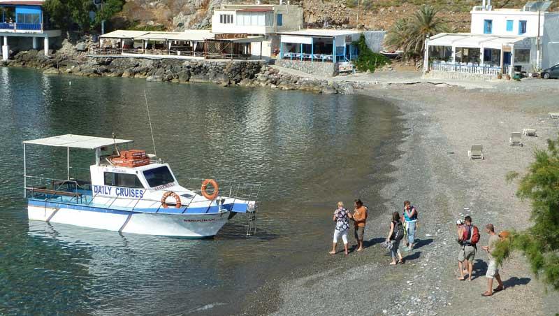 Strand van Lentas (Lendas) op Kreta