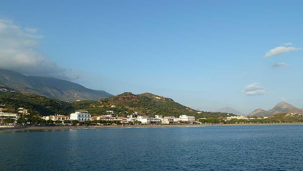 Zee, strand en bergen in Plakias