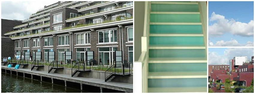 Kleurverloop trap Amsterdam IJburg