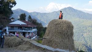 Op weg naar Pothana - Nepal