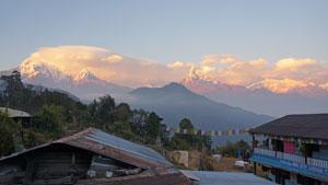 Uitzicht op Fish Tail in Pothana - Nepal