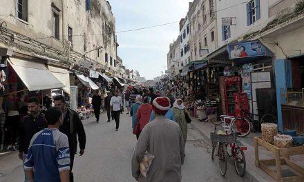 Rue de l'Istiqlal en Avenue Zerktouni in medina Essaouira