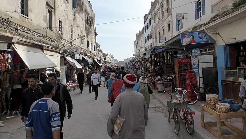 Essaouira - Marokko - Rue de l 'Istiqlal - Avenue Zerktouni