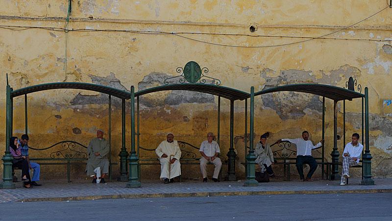 Bushalte in Fes - Marokko