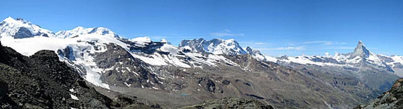 Uitzicht op Matterhorn - Tour de Monte Rosa