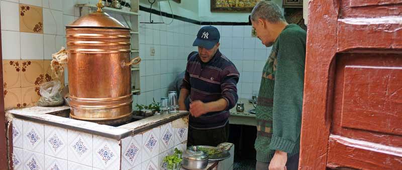 Muntthee in Fez