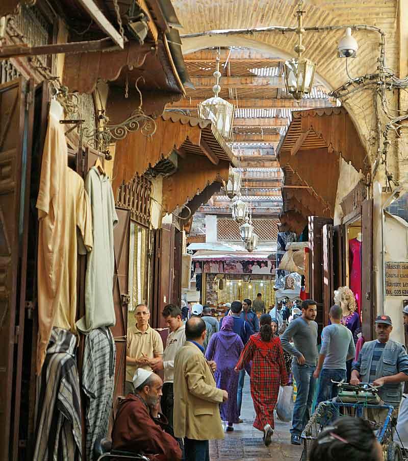 Winkelstraat medina Fez