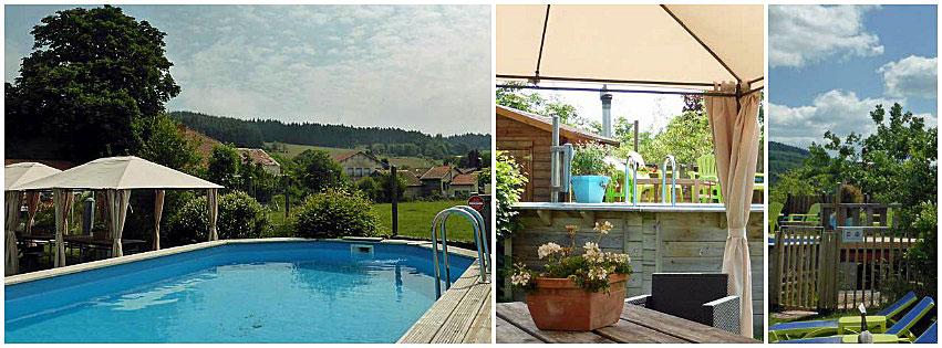 Zwembad Aire les Biefs - Auvergne
