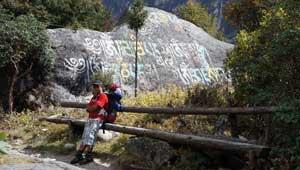 Gebedssteen - mani-steen - Nepal
