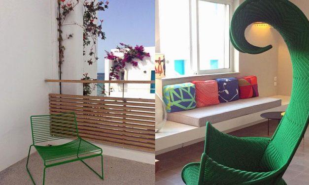 Wit met wat stevige kleuren in Ammos Hotel op Kreta