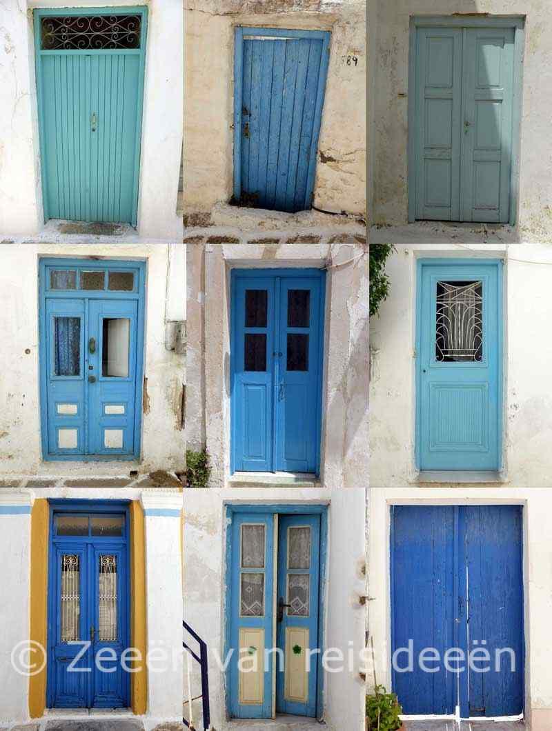 Blauwe deuren - Páros - Cycladen
