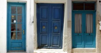Blauwe deuren op Náxos en Parás - Cycladen - Griekenland