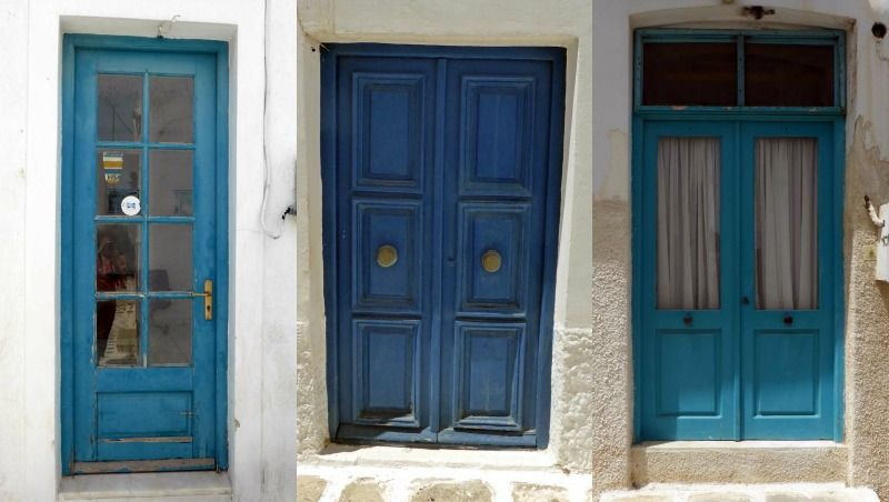 12 x de meest schilderachtige blauwe deuren op Páros