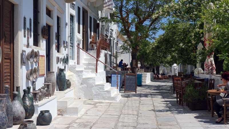 Marmeren straten - Apíranthos - Náxos - Cycladen