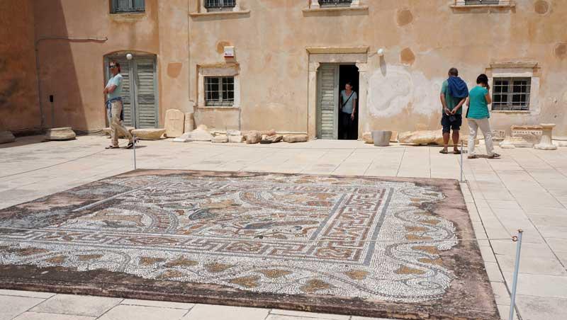 Mozaïek archeologisch museum - Náxos - Cycladen
