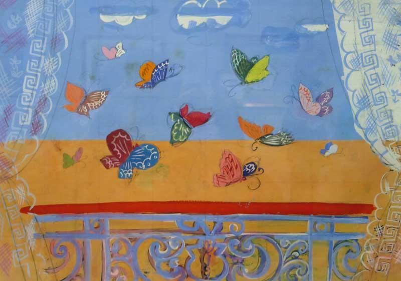 La Ballustrade aux Papillons - Raoul Dufy -1930