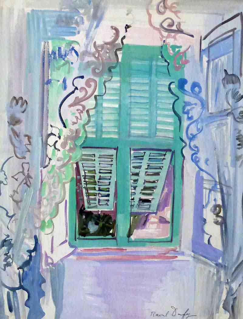 Les fenêtres aux volets verts - Raoul Dufy