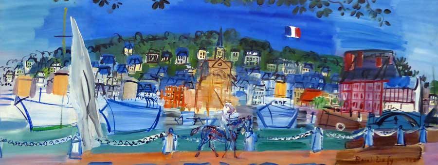 Les Yachts à Deauville - Raoul Dufy - 1938
