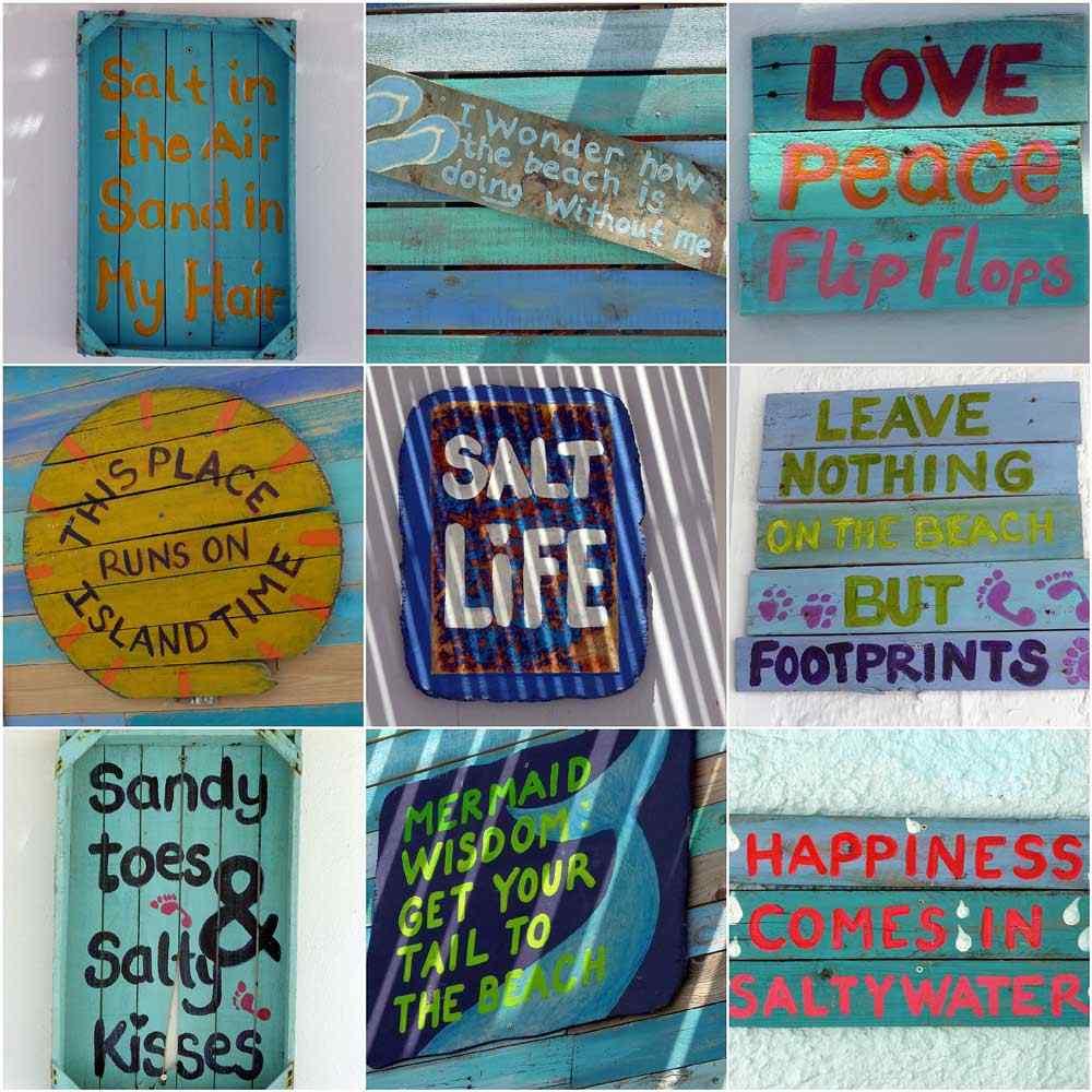 Zee- en strandteksten - muurdecoratie