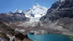 Sarapococha-meer en Yerupaja - Peru- Cordillera Huayhuash - hiking
